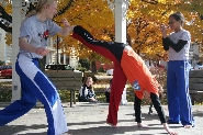 Students demonstrate Capoeira at Fall Fest.