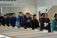 Faculty process into the Chapel at last year's Class & Charter Day.