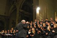The Hamilton College Choir performing in Italy in March.