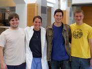 From left, Daniel Lichtenauer '14, Elizabeth Huebner '13, Andrew Seraichick '13, Robert Clayton '15.