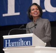 Condoleezza Rice spoke to a large crowd in the Field House on Nov. 1.