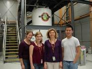 Caitlin Burzynski '12, Nina Kraus '13,  Prof. Cotten, and Alex Dao '12.