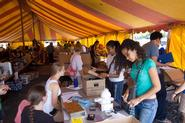 Students took advantage of the Cram & Scram Tent Sale.