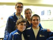 Members of Hamilton's Curling Team at the Boston bonspiel.
