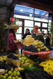Foods grown within a 150-mile radius of campus were featured.