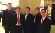 Hamilton economics students participated in the Fed Challenge in New York.