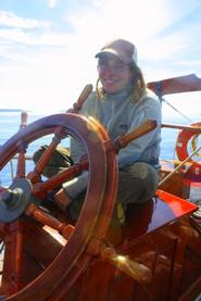 Sarah Felder '07 First Mate on schooner Adventuress