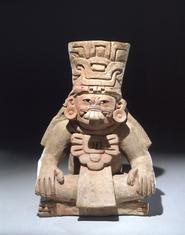 Seated Funerary Urn. Unknown Artist, Mexican (Pre-columbian). Monte Alban III, 250 750 A.D.