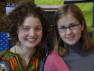 Caroline Davis '11 and Laura Gault 11, recipients of a Davis Peace Project Fellowship.