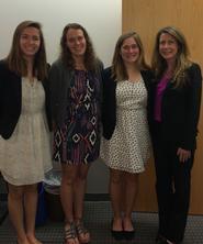 From left: Abigail Armstrong '15, Morgan Lane '16, Rachel Landman '15 and Colleen Deacon.