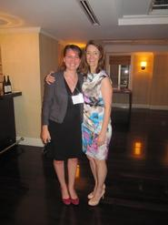 Catherine Gold '14 and Meg Harrison '91.