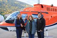 Erica Kowsz '11, Janet Simons and Nathan Goodale.