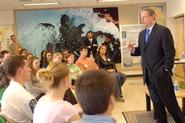 Al Gore spoke to a Hamilton class during his 2007 visit.