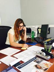 Elza Harb '18 at work in the District Office of Congressman Mike Quigley (IL-05) in Chicago.