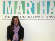 Hayden Kiessling '12 at the Martha Stewart Show set.
