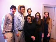 Jewish Chaplain Anat Guez (front) with the Hillel Student Executive Board.