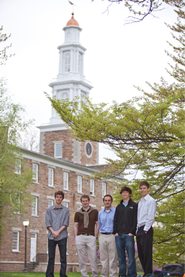 HillFresh founders Geoff Ayers '11, Jeremy Young '12, Faton Begolli '13, Matt Nudell ' 11 and Jack Dunn '12.