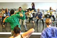 Yan Pang '10 demonstrated hip-hop in Elaine Heekin's dance class on Monday, Oct. 11.