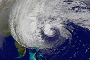 A satellite image of Hurricane Sandy.