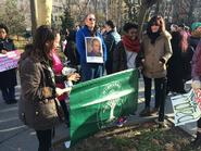 Professor Maurice Isserman with Hamilton students at the NYC Millions March