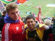 John Dunn '10 and Hamilton rugby alum Rezaan Daniels '07.