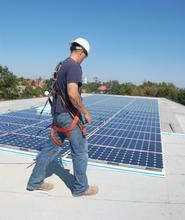 Solar arrays were installed on the roof of Kirner-Johnson in September, 2008