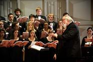 G. Roberts Kolb conducts the Hamilton College Choir.
