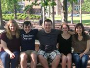 Shea Nagle '16, Ben Ligas '14, Scott Pillette '14, Sally Bourdon '15, Nicole LaBarge '15.