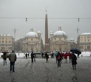 Leah Berryhill '13 photo of Rome, Italy, during a snowstorm..
