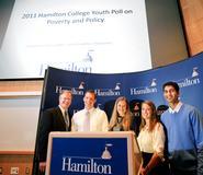 Prof. Paul Hagstrom, Lukas Bridenbeck '13, Rebekah Gibson '12, Sarah Flisnik '12, CJ Dayananda '12.