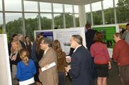Students displayed the results of their summer research at a poster session in KJ.