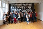 Students in Robert Knight's Art 116 class on their field trip to MassMOCA.