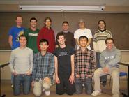 Hamilton's victorious Mathletics team.