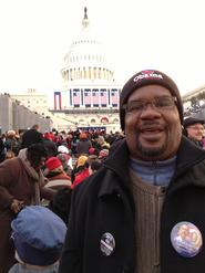 Associate Professor of Theatre Mark Cryer at the Capitol.