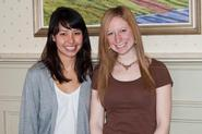 Senior geoscience majors Megan Fung and Lisa Feuerstein.