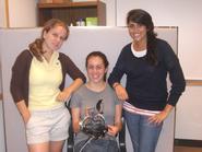Mary Meinke '12, Clair Cassiello '11 and Lauren Liebman '12.
