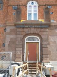 The front entrance of the former Minor Theater.