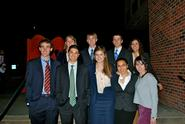 Members of Hamilton's 2010-11 Mock Trial Team.