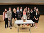 Hamilton's winning Mock Trial team at the Colgate Tournament.