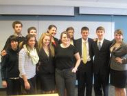 Members of the Mock Trial Team at the Regional Qualifer in Buffalo.