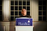 Bob Moses '56 spoke at Hamilton in 2010.