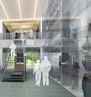 Architectural rendering of the open archive within the Ruth and Elmer Wellin Museum of Art at Hamilton College.