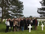 Hamilton students in Normandy.