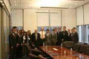 New York Program students at Barclays Capital with Professor Erol Balkan, George Mack '93 and Alexandra Leighton '09.