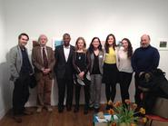New York City alumni joined Tracy Adler, director of the Ruth and Elmer Wellin Museum of Art, for an artist talk with Casey Ruble on March 7.