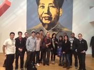 Hamilton students with Andy Warhol's