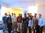 New York program students with Princeton Professor Peter Singer.