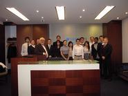 New York City Program students and Professor Rick Werner at Barclay's Bank.