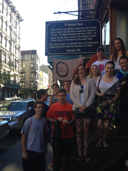 Hamilton New York Program students at the Tenement Museum.