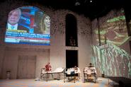 A scene from Hamilton's production of <em>Oresetes 2.0</em>.